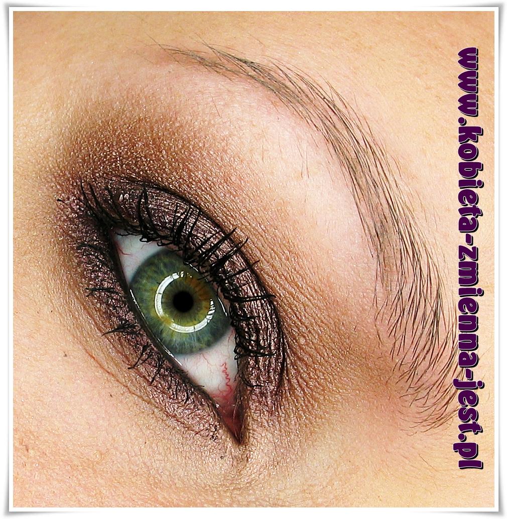 Makijaż Idealny Brązowy Cień Dla Zielonych Oczu Kobieta Zmienną