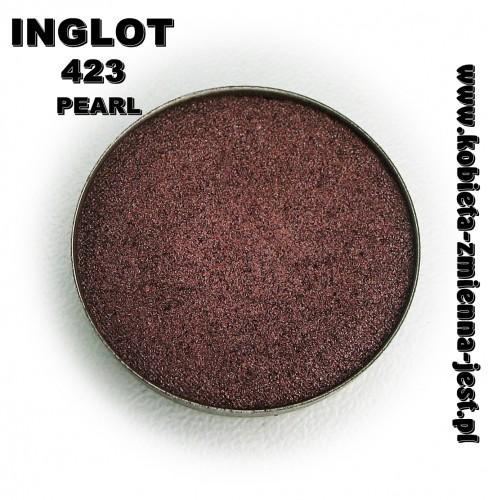 Inglot 423 Pearl swatch recenzja blog