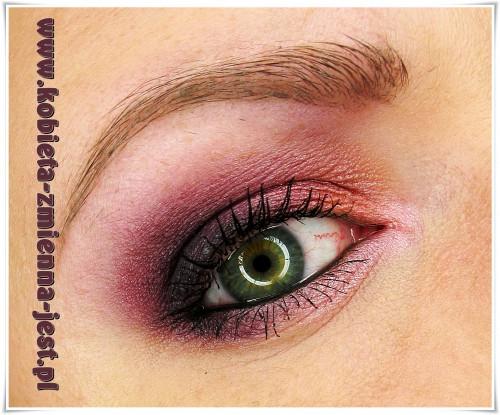 makijaż make up inglot fiolety zielone oczy wieczorowy jak wykonać