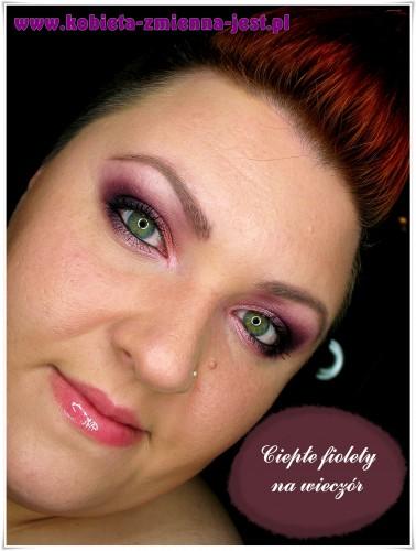 makijaż wieczorowy zielone oczy fiolety inglot