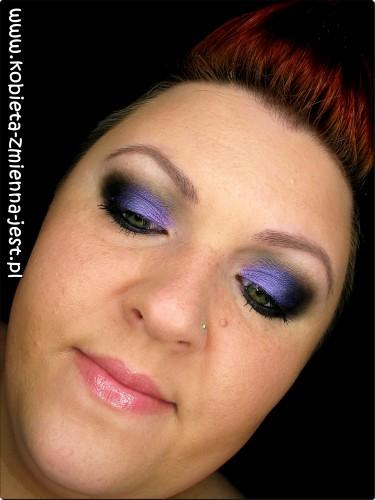 sleek bad girl czerń fiolet makijaż wieczorowy