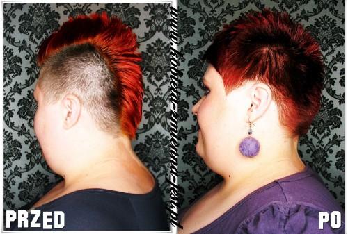 Irokez damski kontra pixie blog fryzura krótkie włosy