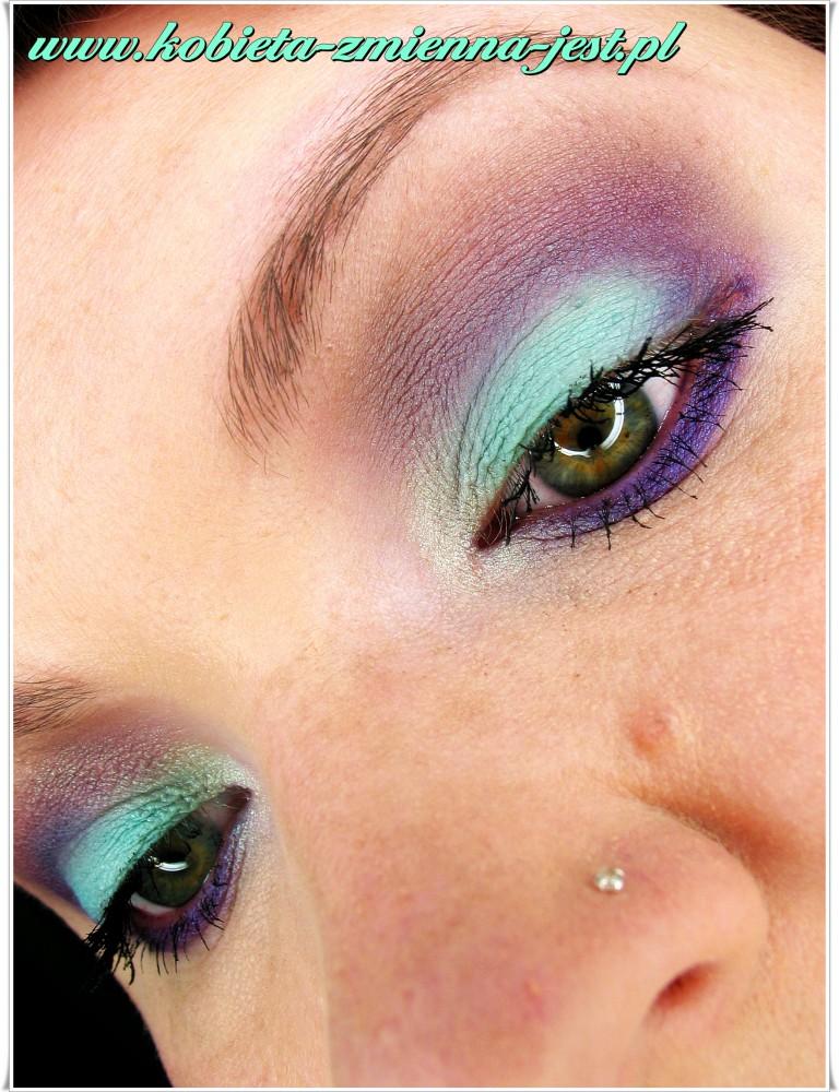 matowa pastelowa mięta makijaż na lato blog