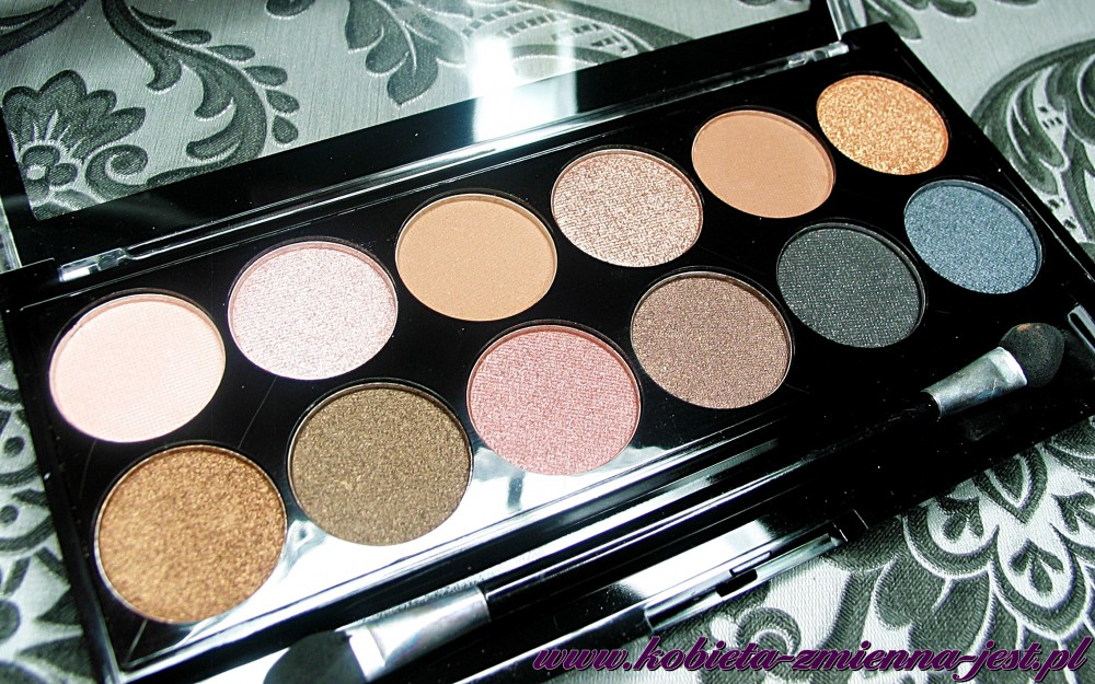 Makeup Academy Undressed eyeshadow palette blog swatche real foto 1