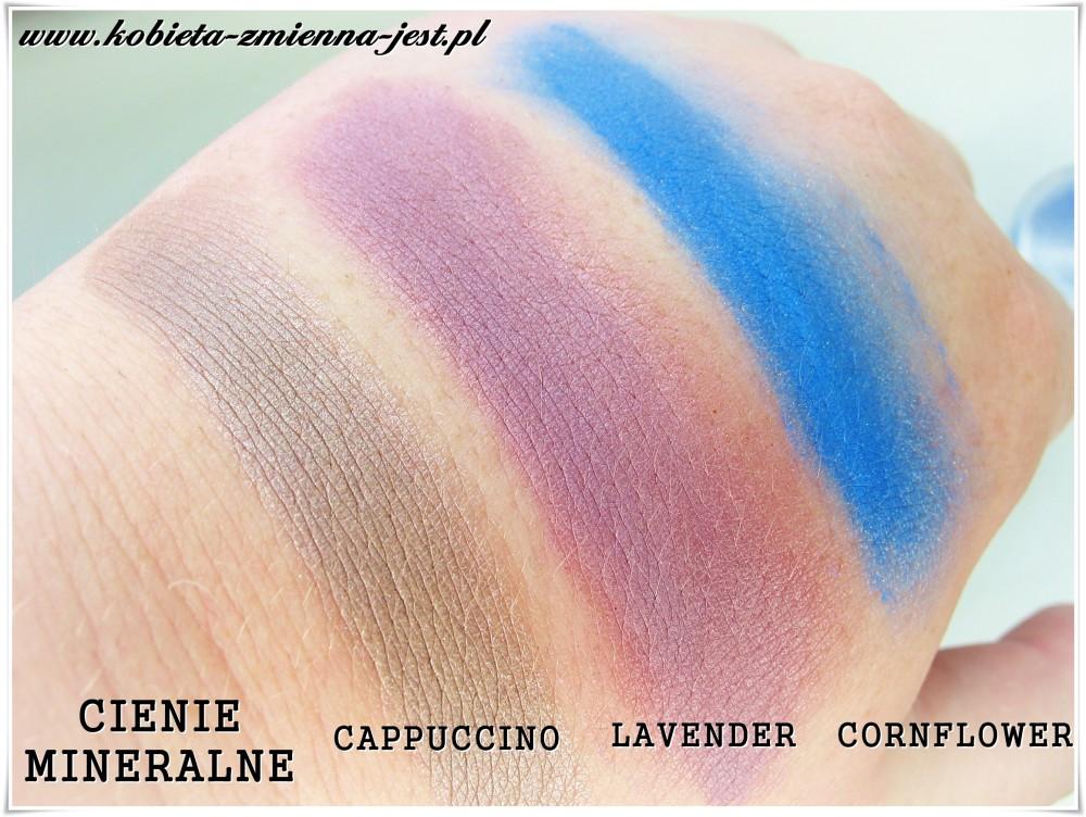 annabelle minerals cień mineralny cappuccino lavender cornflower blog swatche