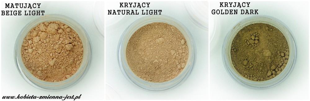 annabelle minerals podkład mineralny matujący beige light podkład mineralny kryjący natural light podkład mineralny kryjący golden dark
