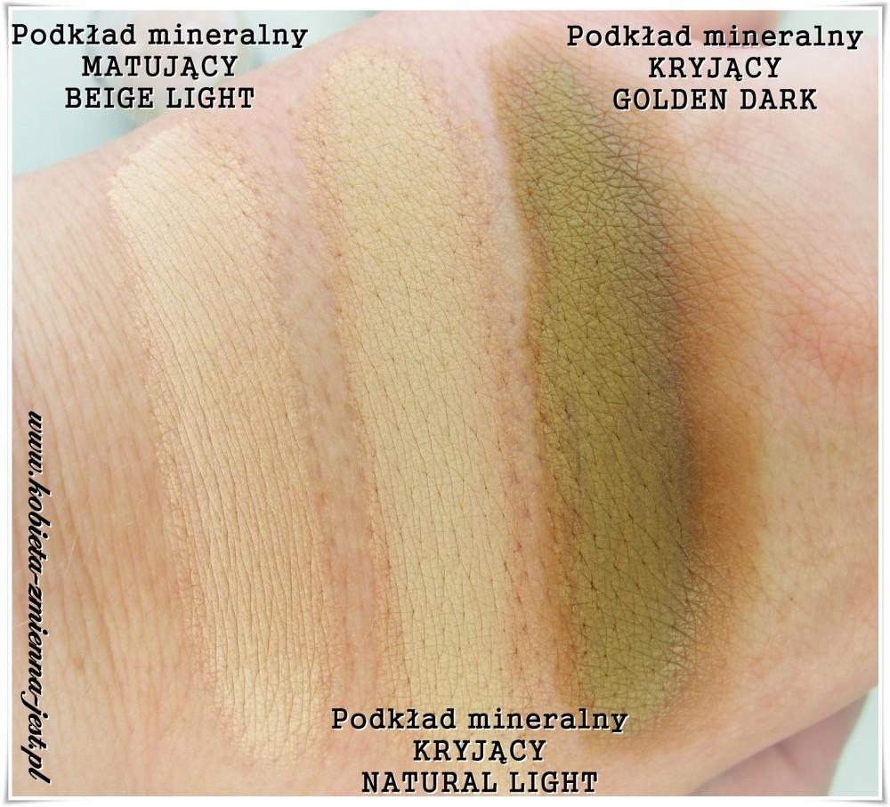 annabelle minerals podkład mineralny matujący beige light podkład mineralny kryjący natural light podkład mineralny kryjący golden dark blog swatche
