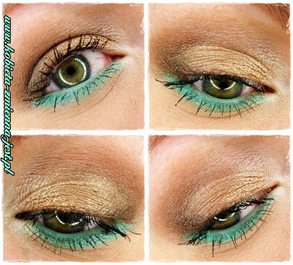 makijaż make up makeup dzienny brązy złoto mięta mint summer make up letni prosty w wykonaniu blog