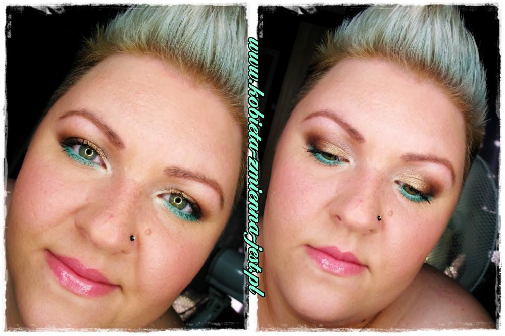 makijaż make up makeup dzienny brązy złoto mięta mint summer make up letni prosty w wykonaniu blog catrice mua