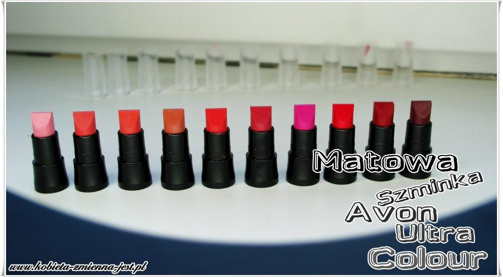 Matowa szminka Avon Ultra Colour blog swatche real foto kolory na żywo wszystkie kolory recenzja