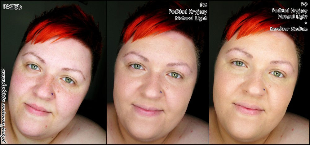 annabelle minerals podkład kryjący natural light korektor medium blog swatche test na żywo real foto