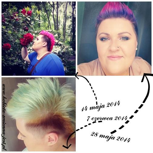 kolorowe włosy różowe włosy fioletowe włosy blond włosy rozjaśnianie koloryzacja na niecodzienne kolory blog