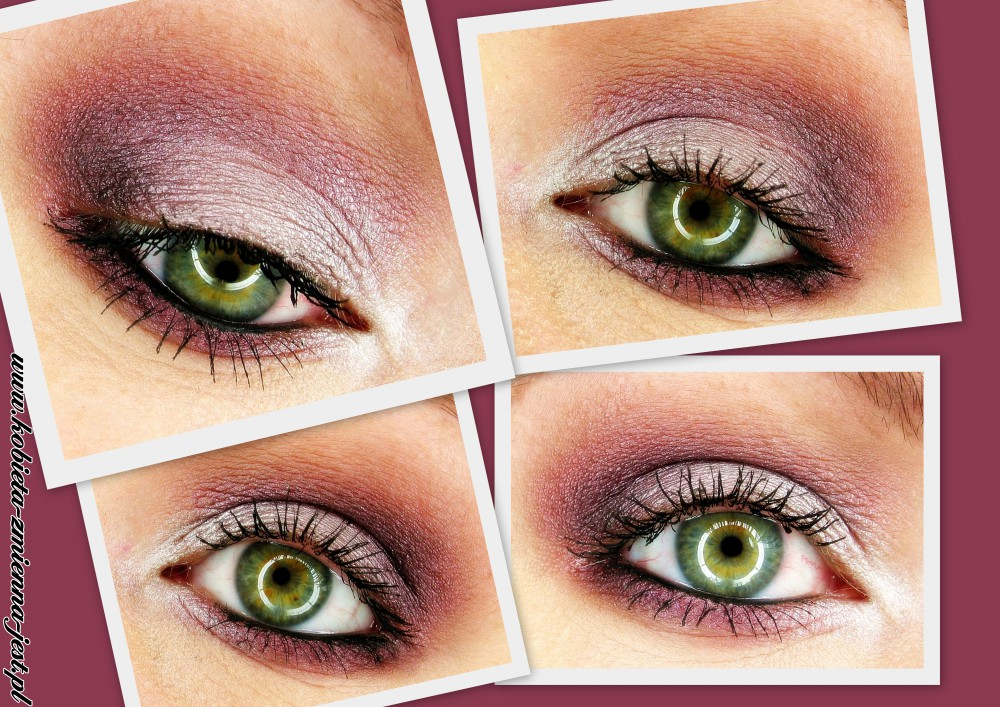 makijaż make up wieczorowy sleek vintage romance inglot 420 blog swatche fiolet szarość purple violet grey eyes
