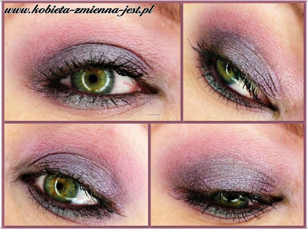 makijaż smokey eyes fiolet purple violet graphite make up wieczorowy inglot blog dla zielonych oczu makijaż oczu