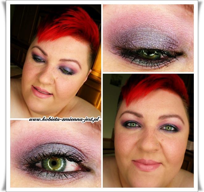 makijaż smokey eyes fiolet purple violet graphite make up wieczorowy inglot blog dla zielonych oczu