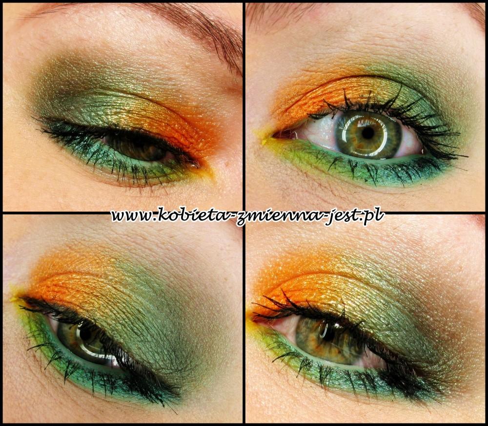 paletka sleek curacao jak zrobić makijaż blog swatche tropikalny make up iguana orange green mint