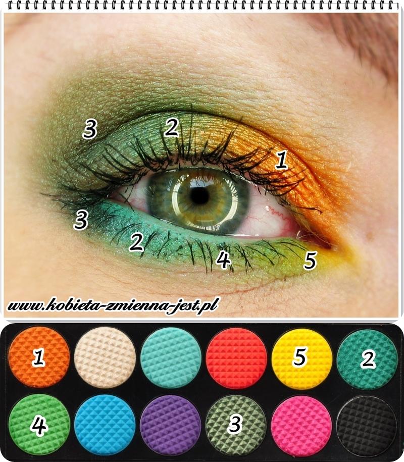 paletka sleek curacao jak zrobić makijaż blog swatche tropikalny make up iguana