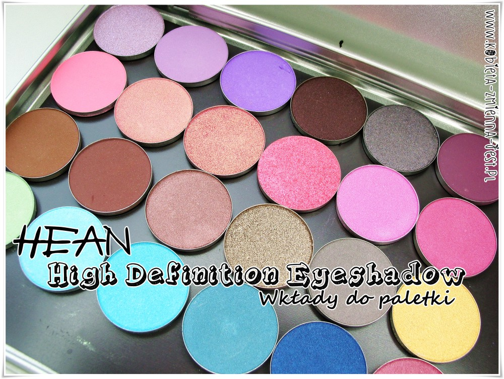 HEAN High Definition cienie do powiek Eyeshadow wkłady do paletki swatche blog recenzja review first impression 24 kolory