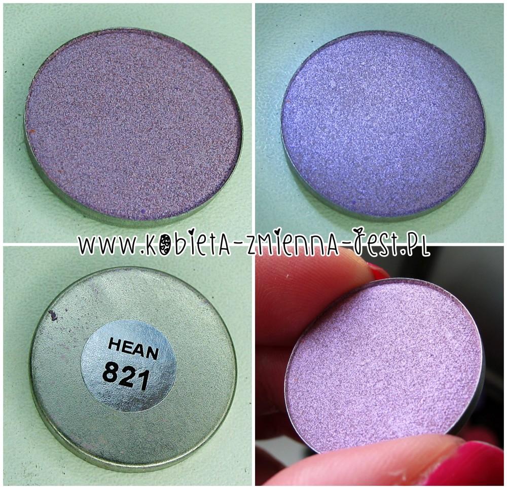 Hean 821 cienie do powiek High Definition wkłady do paletki swatche blog