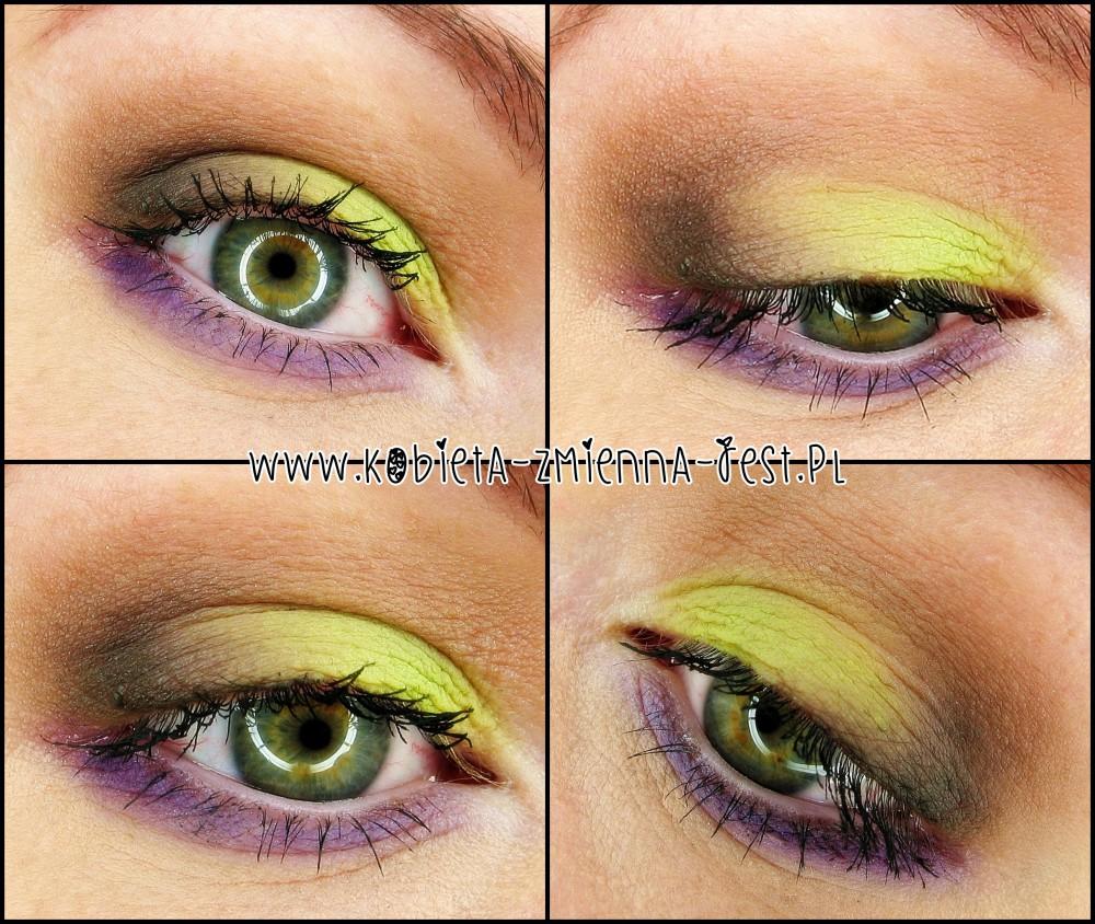 makijaż make up matte matowy zieleń green fiolet violet purple brąz neutral naturalny blog miyo toxic 28 eyes