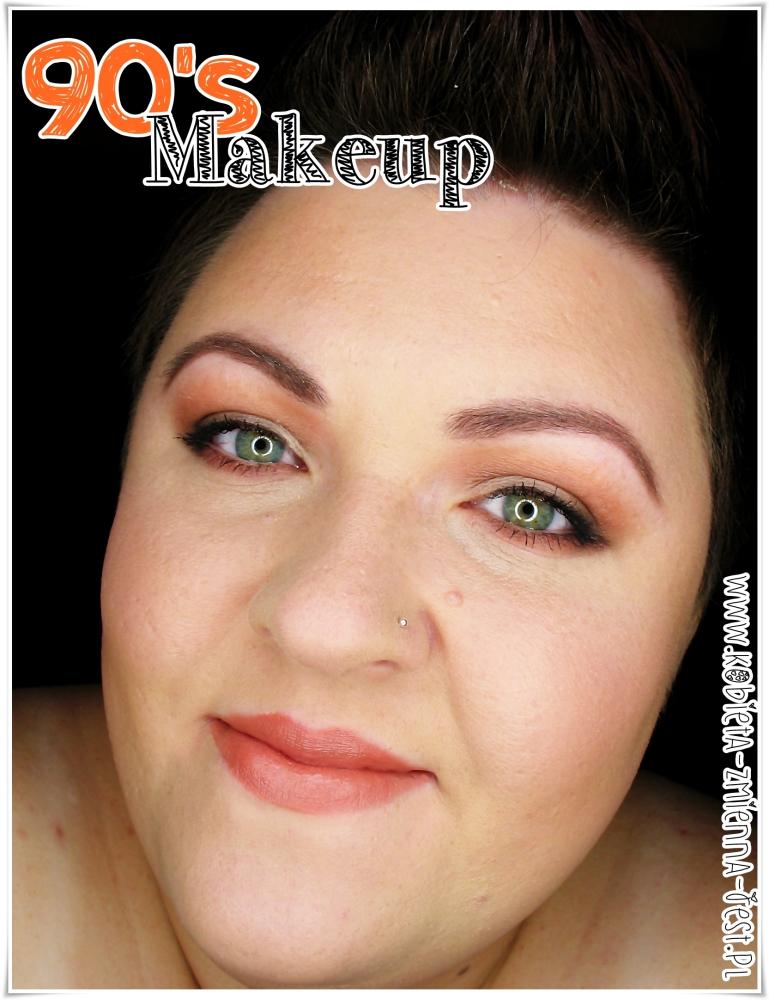 90's makeup makijaż lata 90 worm brown dzienny day makeup matte blog trendy w makijażu jesień 2014