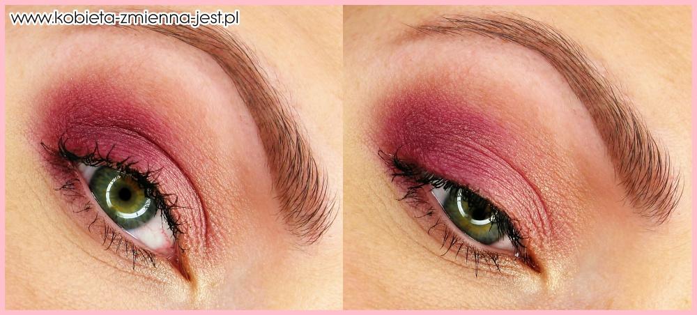 makijaż make up złoty róż brzoskwiniowy dzienny lekki makijaż kobiecy hean 512 sleek vintage romance blog