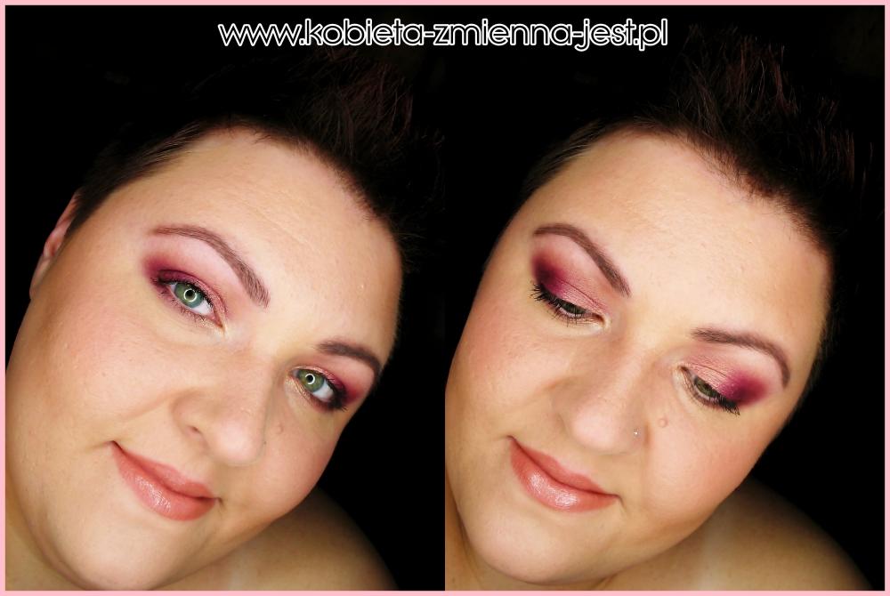 makijaż make up złoty róż brzoskwiniowy dzienny lekki makijaż kobiecy hean 512 sleek vintage romance blog face