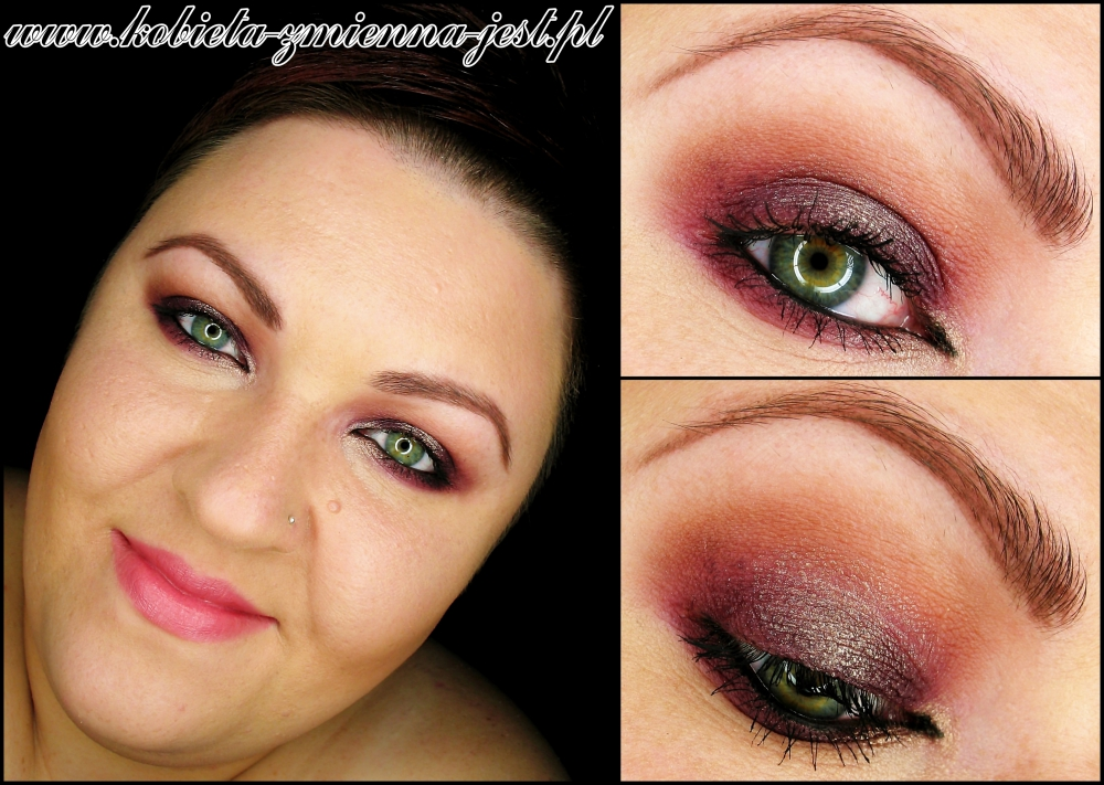 makijaż makeup deep plum sleek vintage romance sleek Ultra Mattes V2 DARKS gold plum matte blog