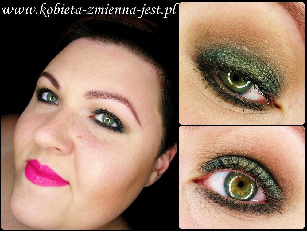 makijaż makeup smokey eyes sleek arabian night bright lips fusia fuksja rimmel 20 blog