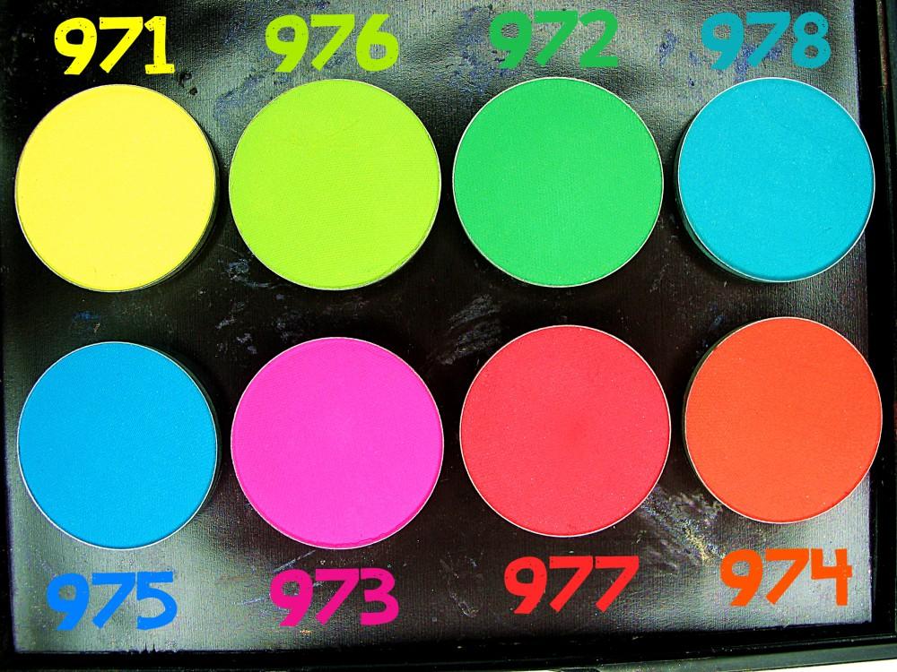 HEAN High Definition wklady do paletki TOP KOLORY wiosna lato hean neony 971 972 973 974 975 976 977 978 blog swatche