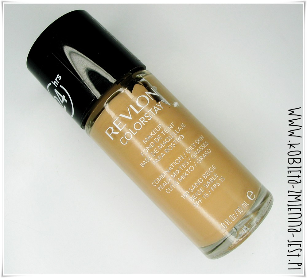 najlepszy podkład do cery mieszanej 2014 roku revlon colorstay sand beige blog