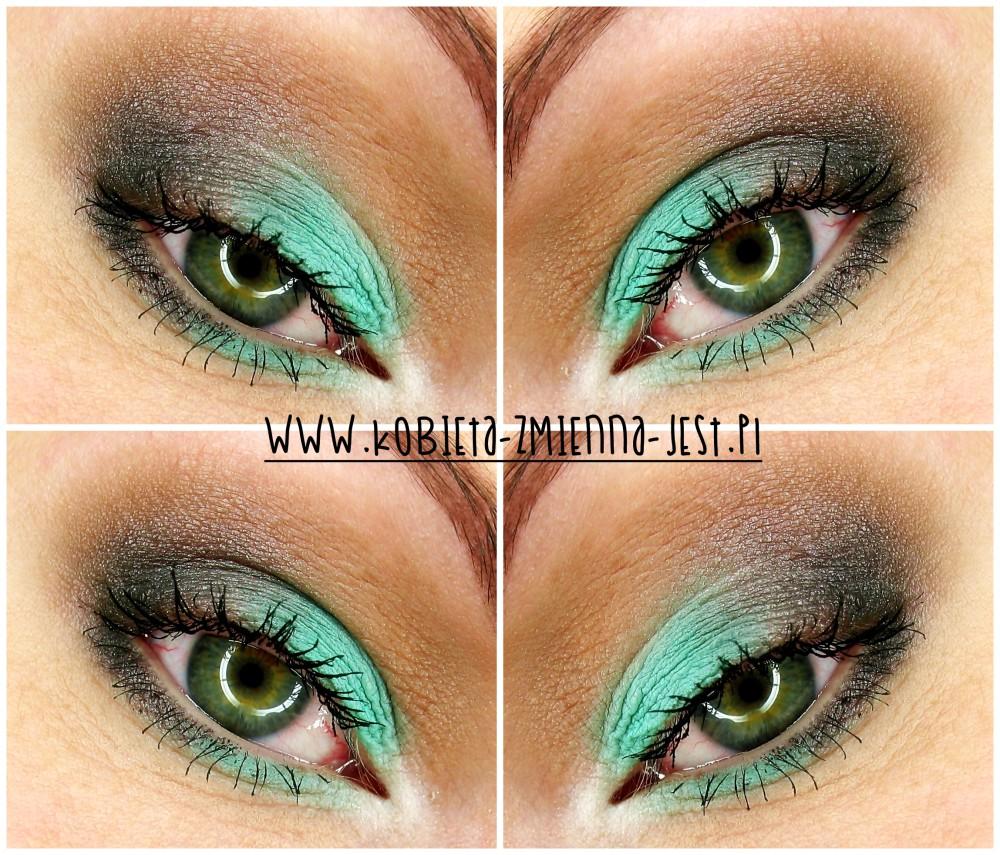 makijaż makeup blog makeupblogger inglot 104R matowa mięta zimne brązy letnia mięta na powiekach mint brown eyes