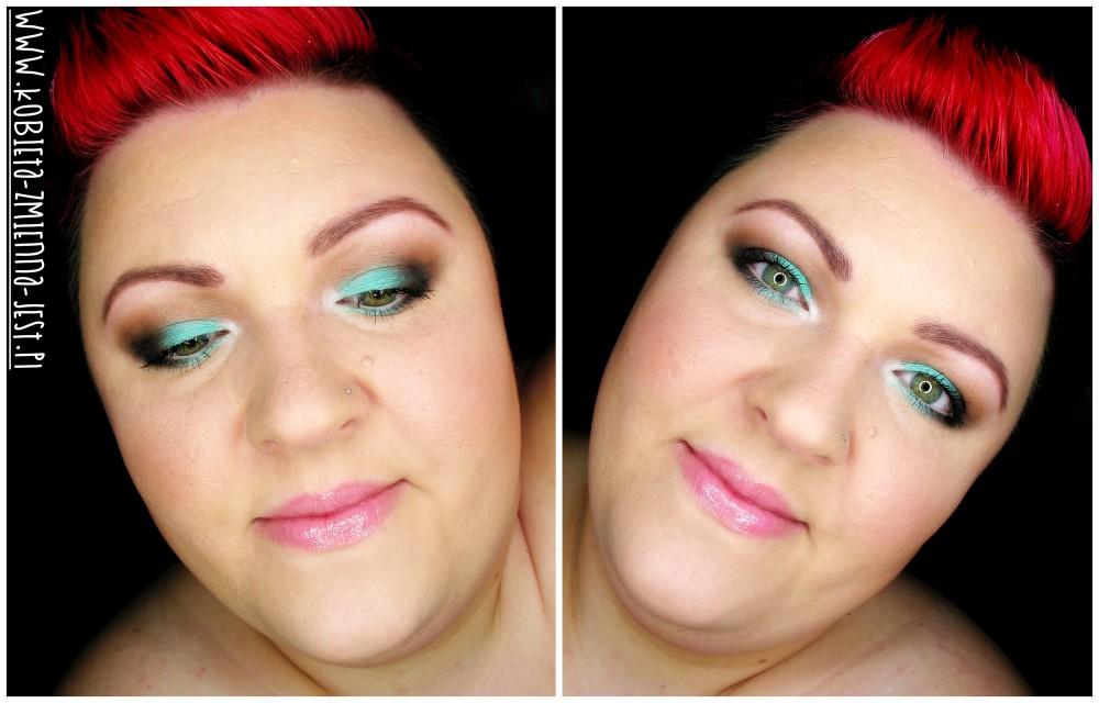 makijaż makeup blog makeupblogger inglot 104R matowa mięta zimne brązy letnia mięta na powiekach mint brown face