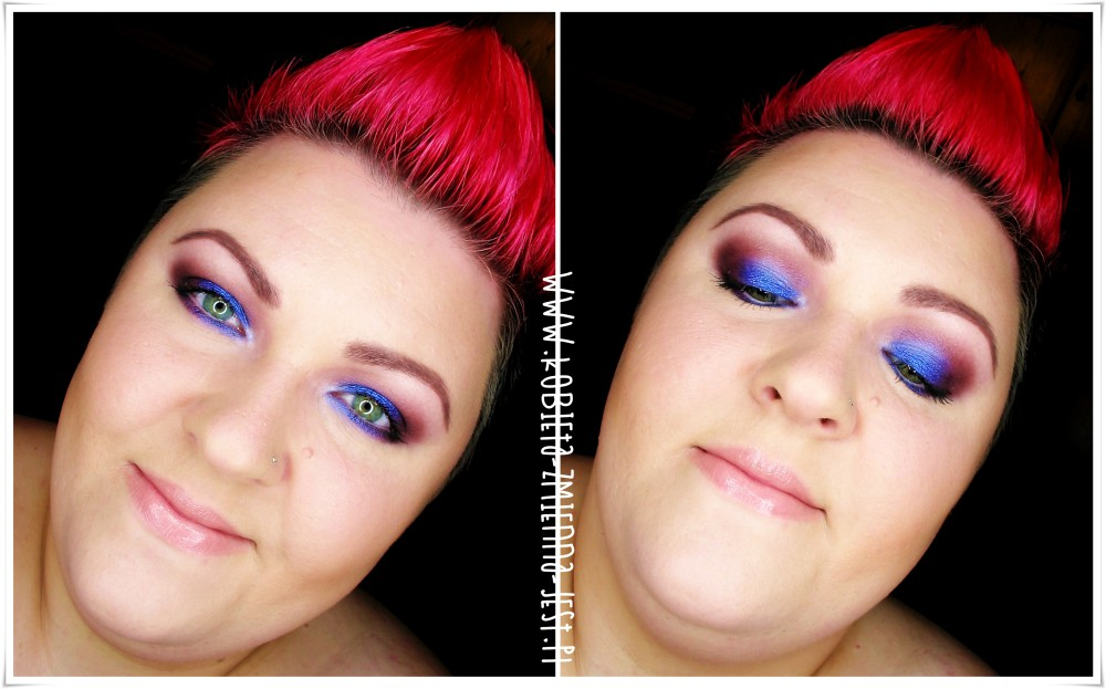 makijaż makeup vibrant violet technic electric beauty bright palette żywy fiolet purpura burgund mocne wieczorowe oko makeupblogger blog green eyes brown eyes face