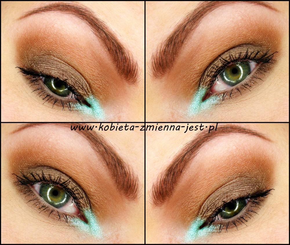 makijaż makeup Makeup Revolution Naked Chocolate brąz mięta mint brown makeupblogger blog real foto eyes