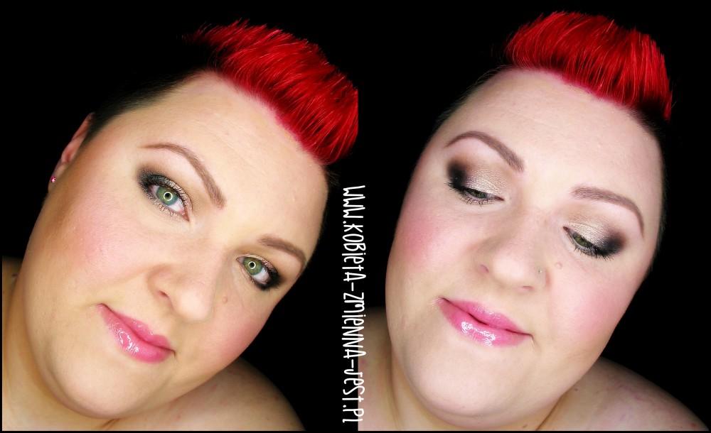 makijaż makeup sleek oh so special jak wykonać makijaż dzienny kobiecy lekki róż szarość zielona tęczówka eye makeupblogger blog face