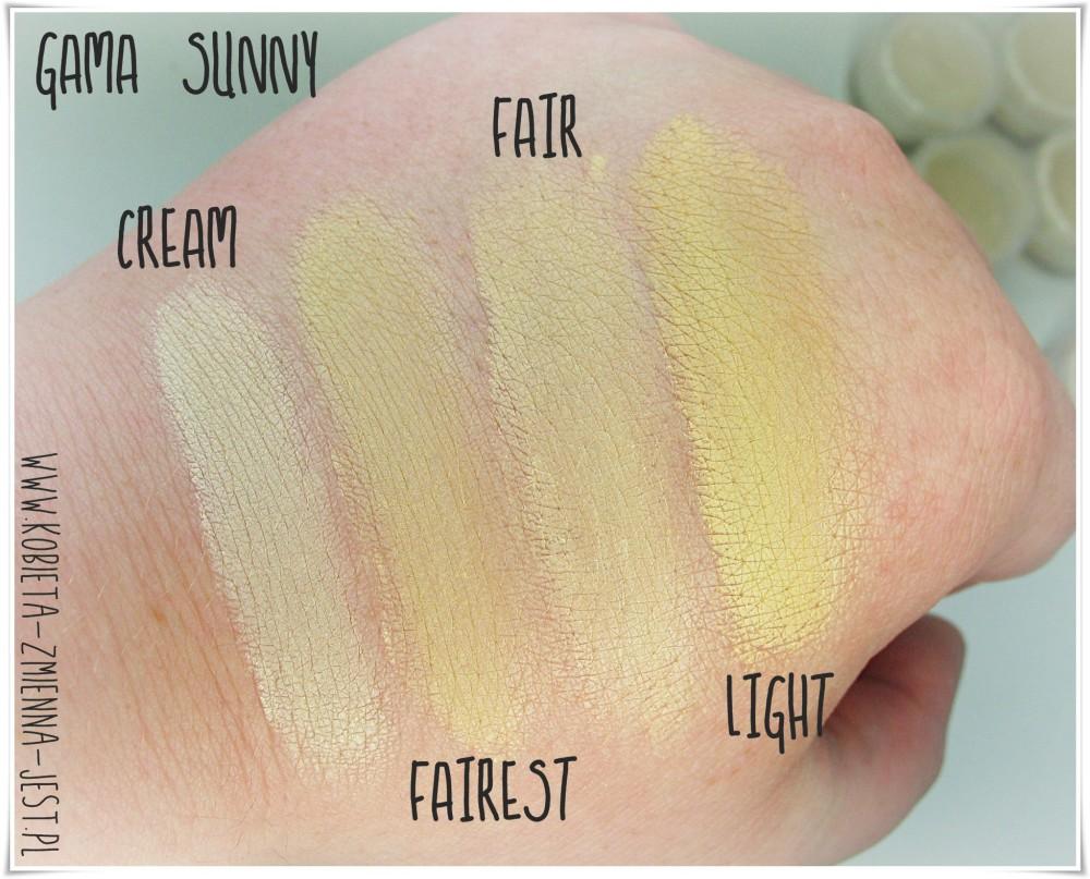 annabelle minerals gama kolorystyczna sunny wszystkie kolory swatche podkład kryjący blog jaki kolory wybrać porady