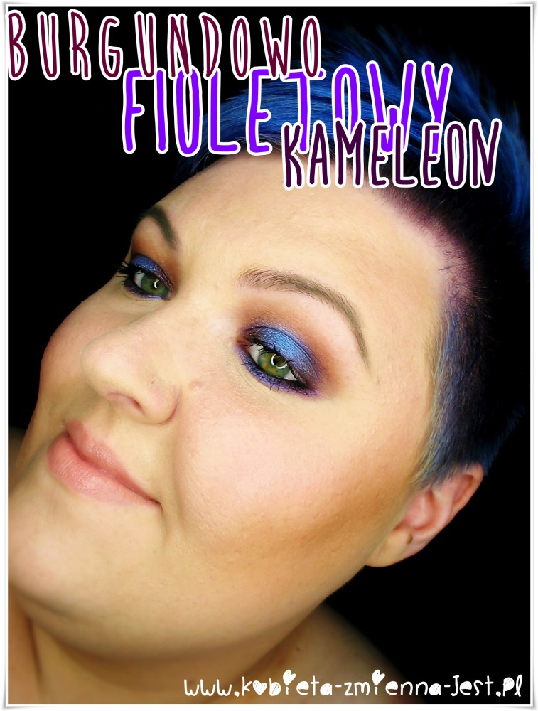makijaż makeup burgund fiolet mac sketch kiko water eyeshadow 225 makeupblogger blog real foto face
