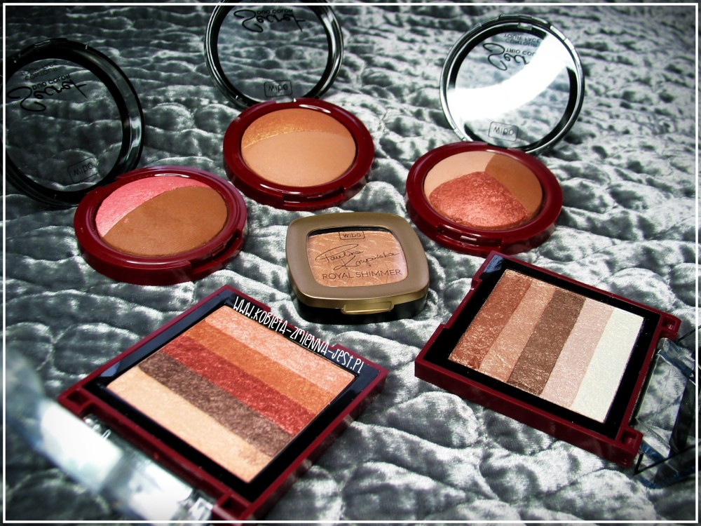 Wibo Secret Duo Color nr 1 i 2 Secret Trio Color Glamour Shimmer Baked Mix Bronzer 3 Steps to Perfect Face