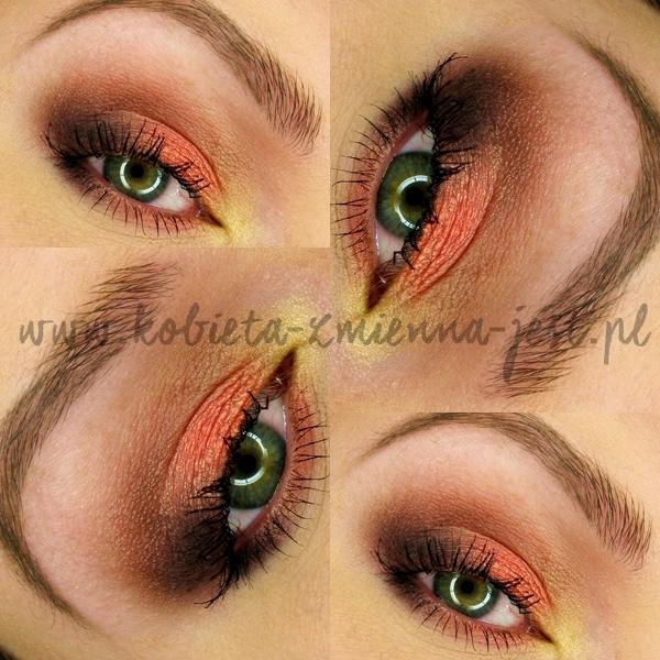 zoeva smoky palette blog makijaż makeup eyes smokey eyes orange aubergine