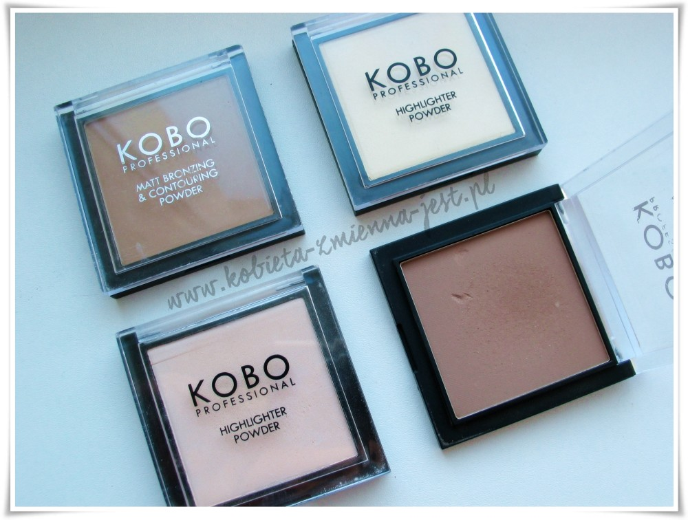KOBO Matt Bronzing & Contouring Powder 308 Sahara Sand 311 Nubian Desert KOBO Highlighter Powder 309 Golden Light 310 Moonlight