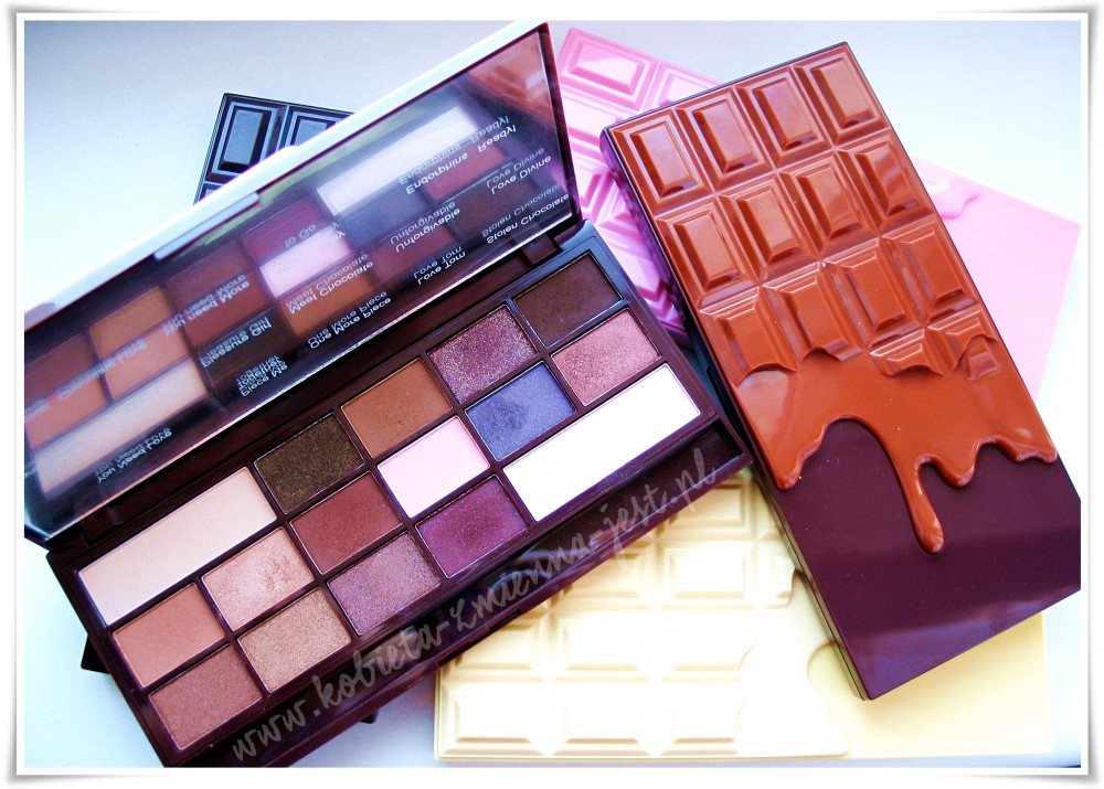 Makeup Revolution I heart chocolate Death by Chocolate Naked Chocolate Pink Fizz Salted Caramel