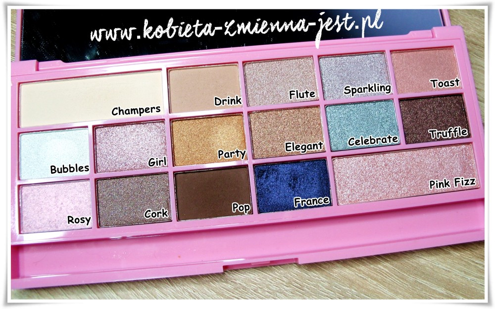Makeup Revolution I heart makeup Pink Fizz Palette swatches blog
