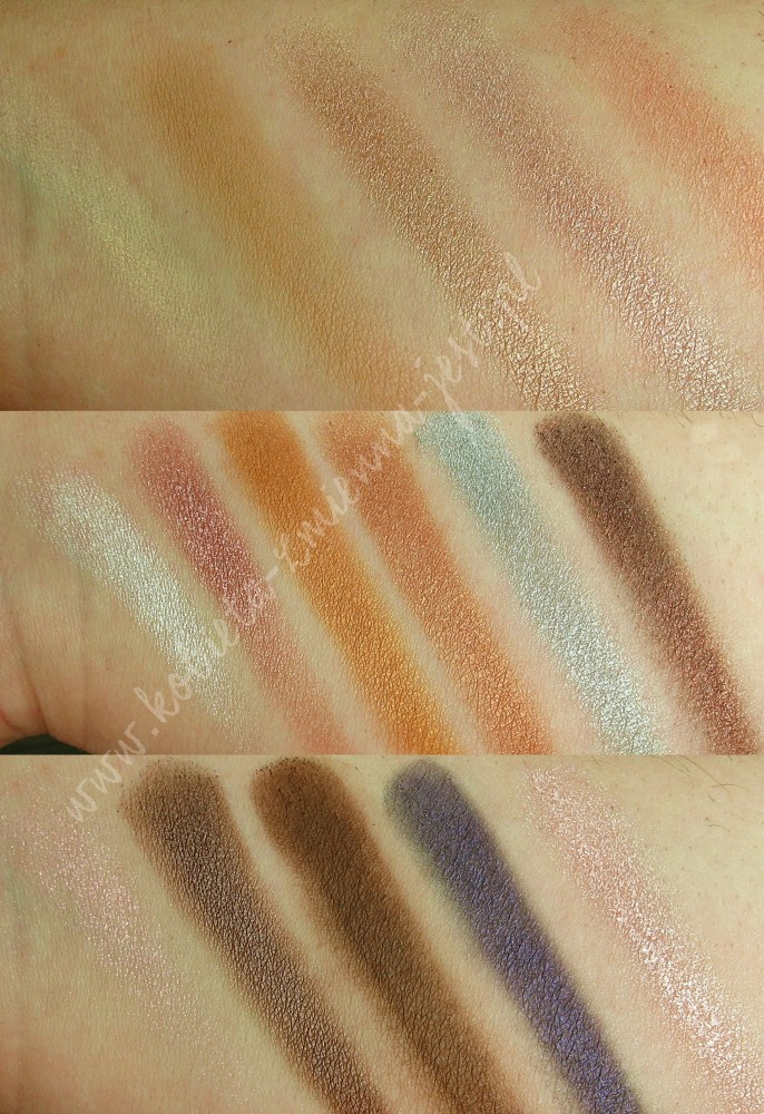 Makeup Revolution I heart makeup Pink Fizz Palette swatches blog real foto