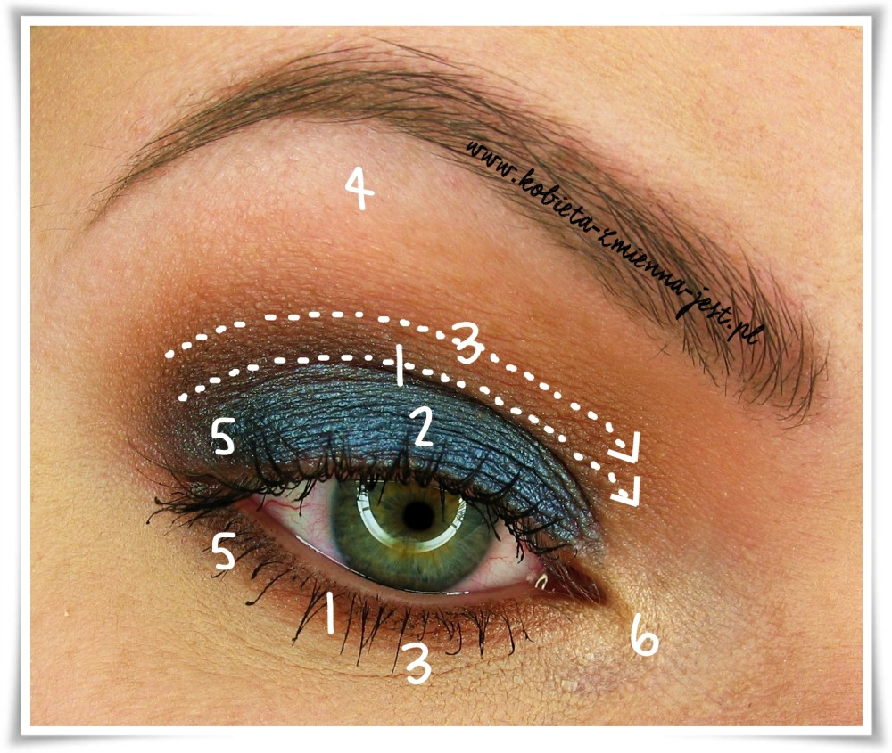Makeup Revolution I heart makeup Salted Caramel Palette makeup eyes step by step