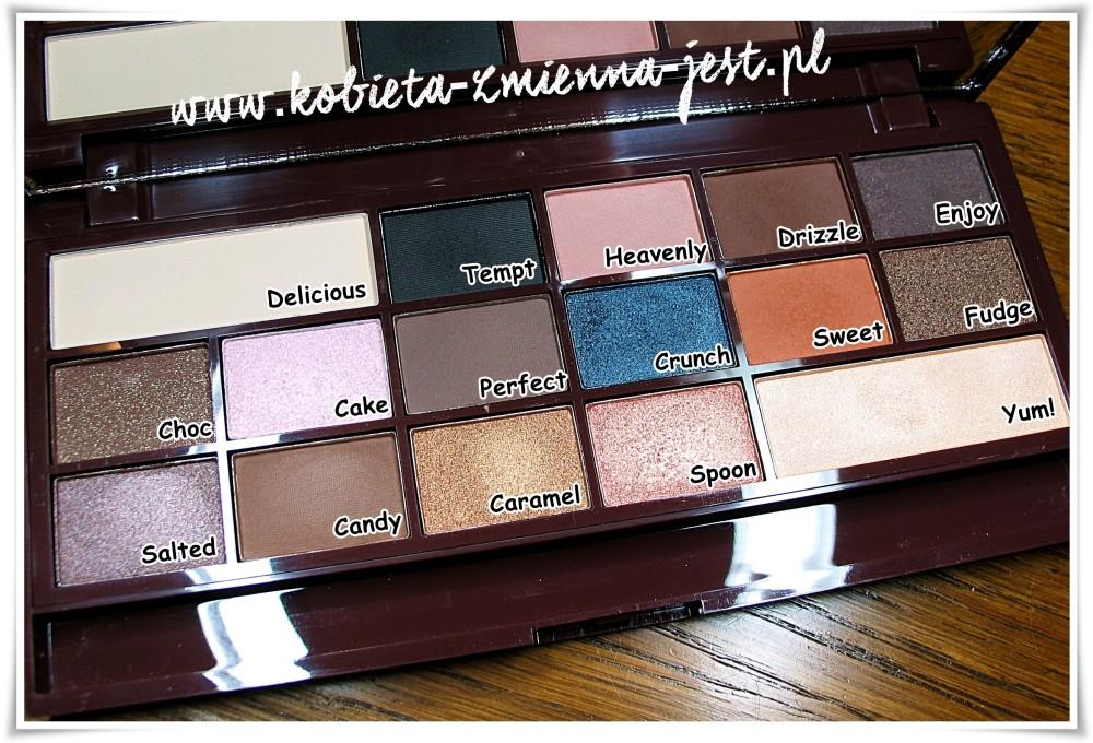 Makeup Revolution I heart makeup Salted Caramel Palette swatches blog