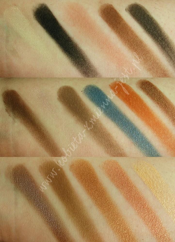 Makeup Revolution I heart makeup Salted Caramel Palette swatches blog real foto