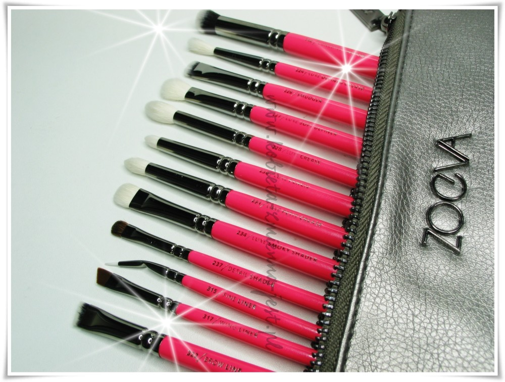 ZOEVA PINK ELEMENTS Complete Eye Set Zestaw 12 pędzli
