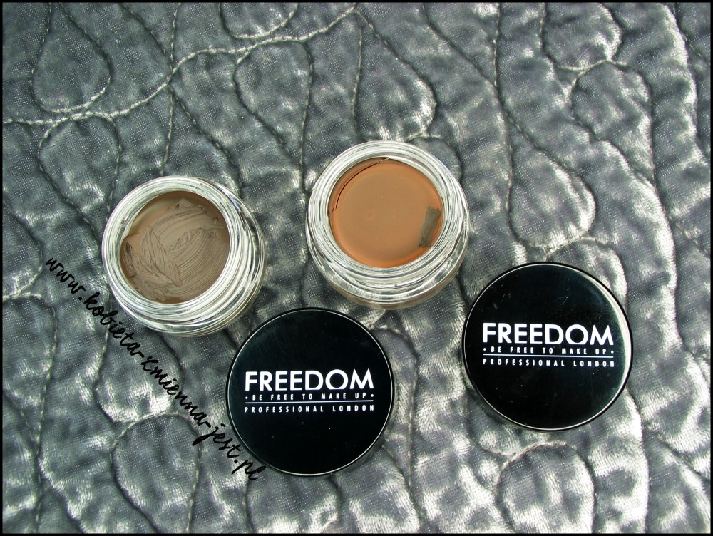 Freedom Makeup Eyebrow Pomade swatches