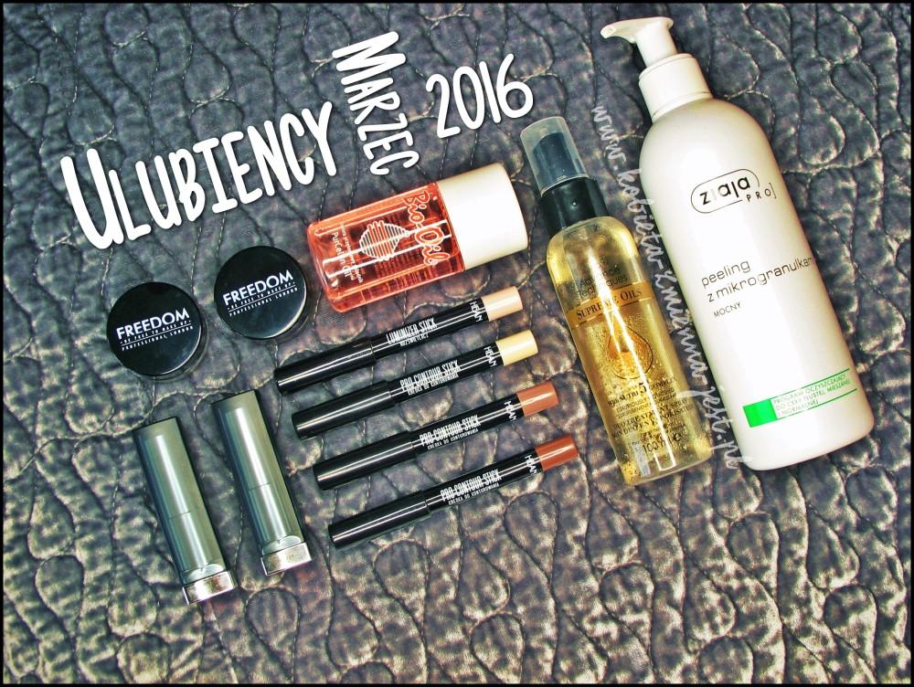 ulubieńcy marzec 2016 blog beauty blogger